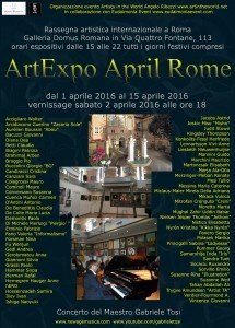LOCANDINA ArtExpo April Rome