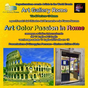 Flyer Art Color fronte Passion in Rome 2020-r